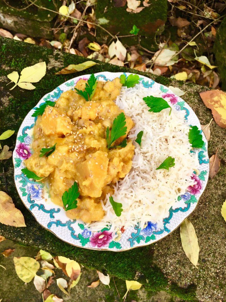 Curry de courge butternut aux pois-chiches (Noël vegan ...